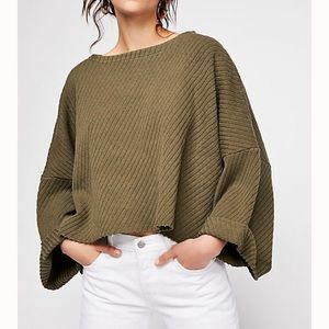 Free People I Can't Wait Cropped Sweater
